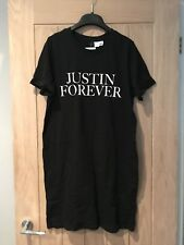H&M Divided Justin Forever Tour T-Shirt Size UK 12 New With Tags