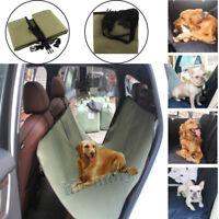 Luxury Car For Dog Seat Cover Waterproof Hammock Cat Pet Back Rear Bench Green