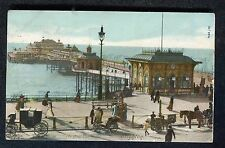 Posted 1904: Car & People: West Pier Brighton