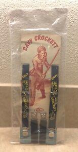 Vintage 1950s Davy Crockett Child Suspenders on Original Card - Walt Disney