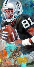 Tim Brown Autographed Limited Edition Fine Art Print Signed Raiders Notre Dame