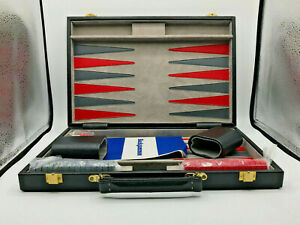 Anne Carlton Backgammon Set in Black Case - New (RA159T)