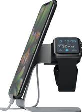 Apple Watch & Smartphone Halterung Ständer Dockingstation Ladestation Dock weiß