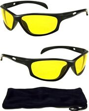 HD High Definition AVIATOR Night Vision Glasses DRIVING SUNGLASSES Yellow Lens