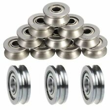 5pCS Guide Wheels Roller U Groove Pulley Ball Bearing Sealed Guide Wire Track