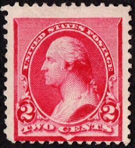 "US Sc# 220a *MINT NO GUM H { CAP ON LEFT ""2 VARIETY } NICE 2c WASHINGTON OF 1890"