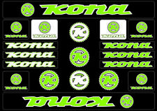 KONA Bicycle Bike Frame Decals Sticker Adhesive Graphic Vinyl Aufkleber Green