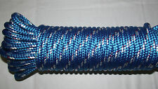 """3/8"""" (10mm) x 47' Double Braid Sail/Halyard Line, Jibsheets, Boat Rope -- NEW"""
