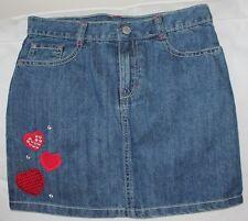 NWT size 10 GYMBOREE girls Denim Jean Skirt Sequin Gem Hearts Valentine's Day