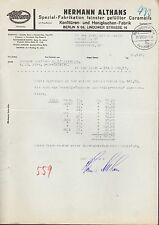 BERLIN N 65, Brief 1938, Konfitüren- und Honigkuchen-Fabrik Hermann Althans