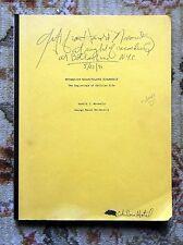 "1991 HAROLD MOROWITZ SIGNED INSCRIBED DRAFT COPY ""BEGINNINGS OF CELLULAR LIFE"""