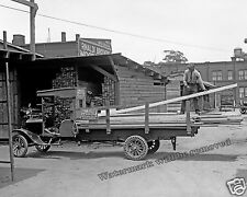 Photograph Vintage Image Frank Kelly Lumber Delivery Truck 1926  8x10