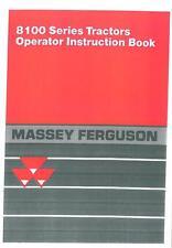 Massey Ferguson Tractor 8110 8120 8130 8140 8150 8160 Operators Manual