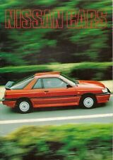Nissan 1986-87 UK Brochure Micra Sunny Bluebird Silvia Laurel 300C 300ZX Patrol