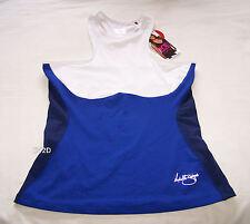 One Active By Michelle Bridges Ladies Blue White Tank Top Size 14 New