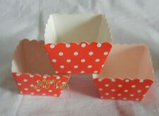 20 Hot Red dot square muffin cases cupcake liners bake paper cup baking accessor