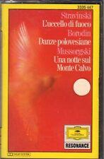 """STRAVINSKI-BORODIN-MUSSORGSKI """" L'UCCELLO DI FUOCO+DANZ """" MUSICASSETTA SIGILLATA"""