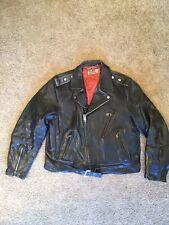 Vintage 1950's Fraternity Prep Steerhide Leather Jacket