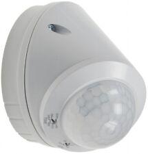 Wand- & Decken Bewegungsmelder 360° LED geeignet, 8m Detektion, weiß, IP65 22644