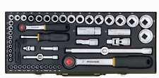 Proxxon Steckschlüsselsatz 56-teilig 1/2 und 1/4 Zoll, Qualitätswerkzeug