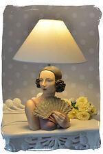 VINTAGE lampada da tavolo Art Deco Donne Busto Lampada Busto Antico Lampada da tavolo