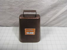 """7"""" Metal Cowbell Cow Bell w/ Handle Antique Copper Finish 97659 New"""