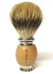 Pennello da barba Setola di Tasso Naturale per rasoio di sicurezza e shavette