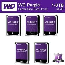 """WD Purple 1/2/3/4/6TB HDD 5400 RPM SATA 6 Gb/s 64MB 3.5 """" Internal Hard Drive US"""
