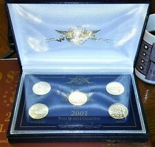 Pure 24Kt Gold Plated 2001 State Quarter Collection US Commemorative Gallery