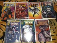 Rune 1-7 Barry Winsor Smith Indie Comics Ultraverse Malibu Comics