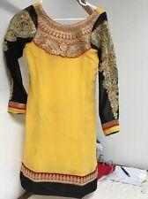 Punjabi Suit Red Black Yellow