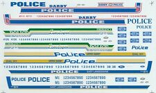 Completes 4 different Police Cars from PA. 1/24th - 1/25th Scale Decals