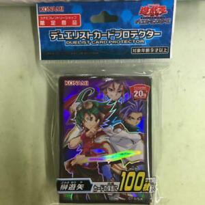 YuGiOh Konami 20th Anniversary 100 pcs Card Sleeves Yuya Sakaki SEALED Japanese