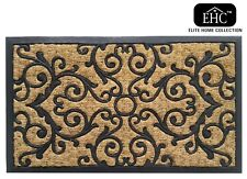 EHC Panama Natural Coir & Rubber Indoor or Outdoor Non-slip Door Mat 45 X 75 Cm