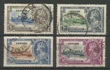 CEYLON THE 1935 GV SILVER JUBILEE SET FINE USED  C.£20