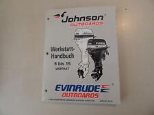 1997 Werkstatthandbuch Johnson Evinrude Außenborder 5 6 8 9.9 15 PS 4-Takt