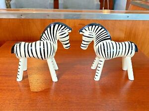 Kay Bojesen Vtg Mid Century Danish Modern Painted Wood Zebra Toy Figure Denmark