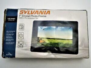 Sylvania 7 Inch Digital Photo Frame Complete LED Panel Simple To Use NIOB Tested