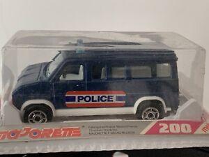 Majorette Serie 200 Fourgon Police Bleu Interieur Blanc