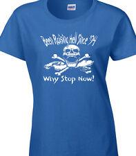 "élevage Hell Since 1994 Cintré Femme T-Shirt bleu 2XL 42"" Cadeau Anniversaire"