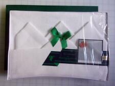 Thomas Ferguson Fine Irish Linen Etamine White Napkin & Placemats Set 8 pcs. NIB