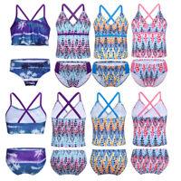 Girl Summer Floral Swimwear Swimsuit Top+Bottoms Bathing Suit Beachwear 2Pcs/Set