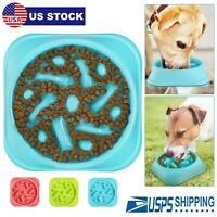 Fun Feeder Dog Bowl Slow Feeder Stop Bloat for Pet Dogs Cat Puppy Food Water US