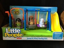 Fisher Price Little People Jump And Play Swing Set Mia Koby Dog New playground