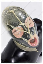0471 Latex Rubber Gummi Double Layers breathing Mask Hood customized suit 0.4mm