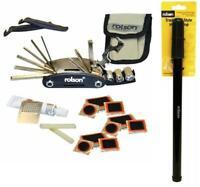 30 In 1 Bike Cycle Puncture Repair Kit + Multi Tool + Traditional Pump