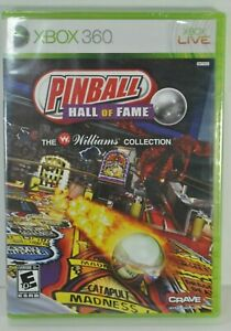 Pinball Hall of Fame The Williams Collection Microsoft Xbox 360 2009 NEW SEALED