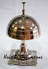 Antique World Globe Style Hotel Counter Desk Bell Ring For Service Call Bells