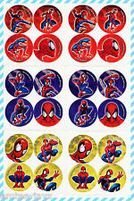 SPIDER-MAN Dots Stickers x 24 (6 sheets) - Favours - Birthday Loot Bag - Dot