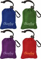 ChicoBag Original Reusable Shopping Tote / Grocery Bag (Variety 4 Pack - Blue,